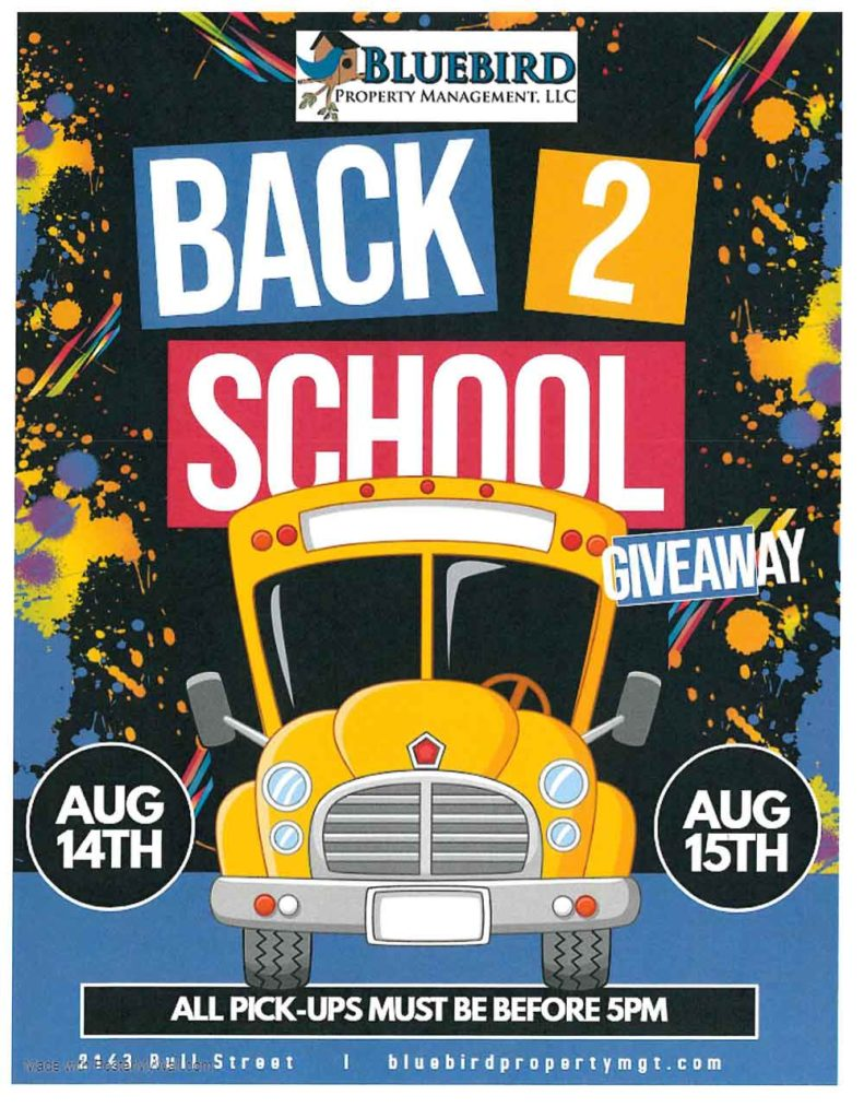 Back to School Bash August 14, 15