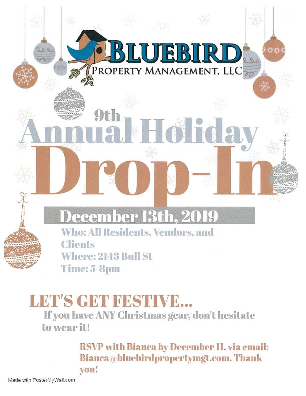 December 2019 Holiday Drop-in