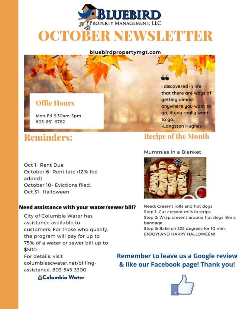 October 2020 Newsletter and Events
