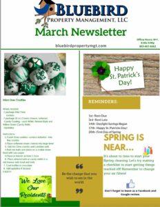 March 2021 Bluebird Property Management Newsletter