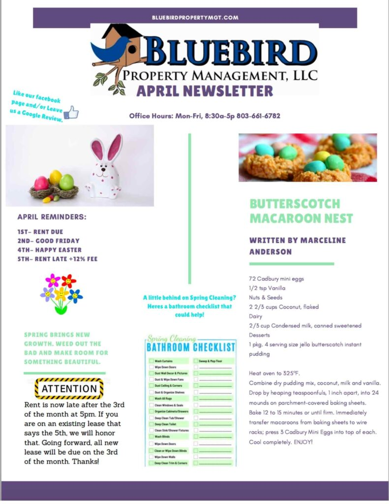 2021 April Newsletter-BluebirdProperty