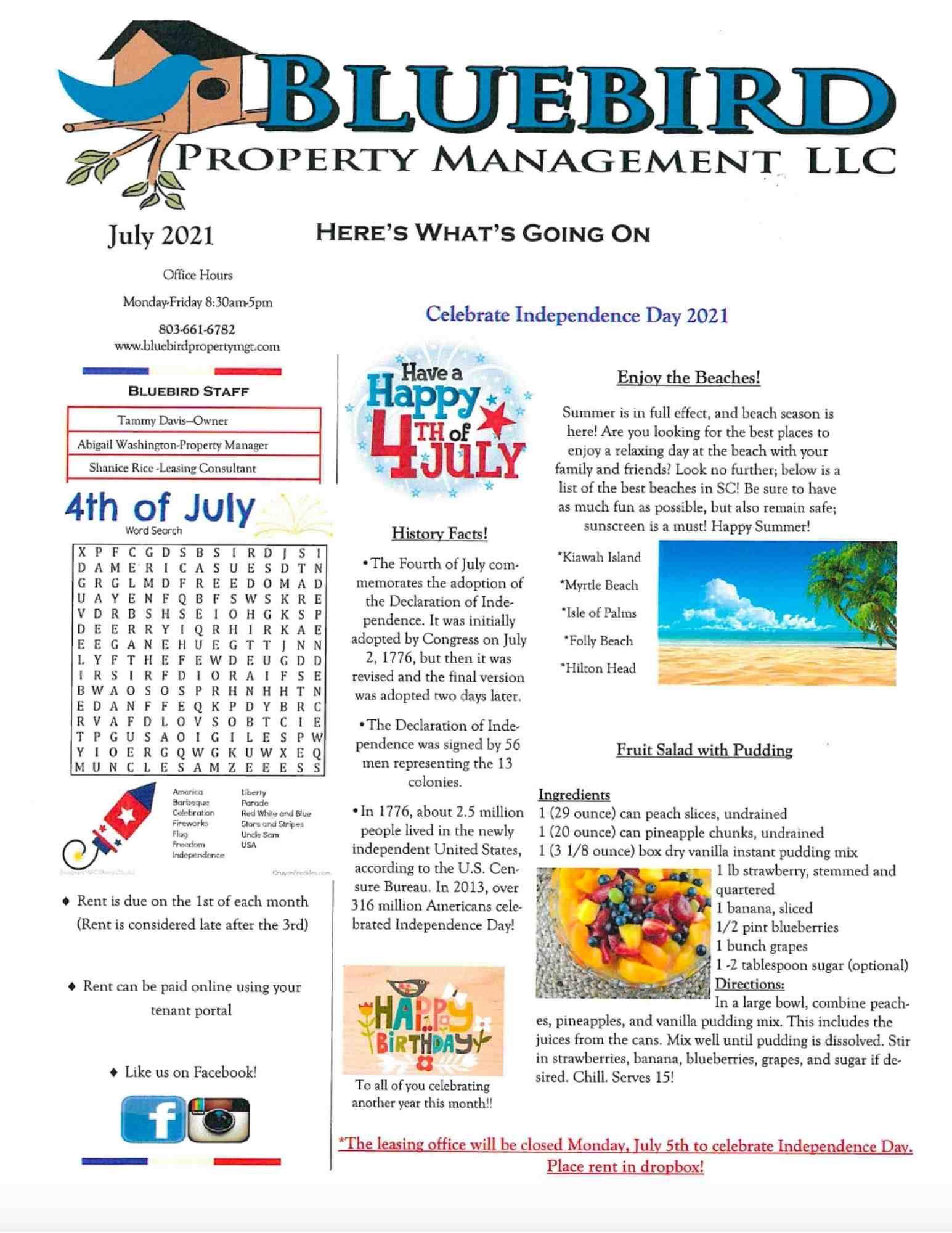 2021 July Newsletter-BluebirdProperty