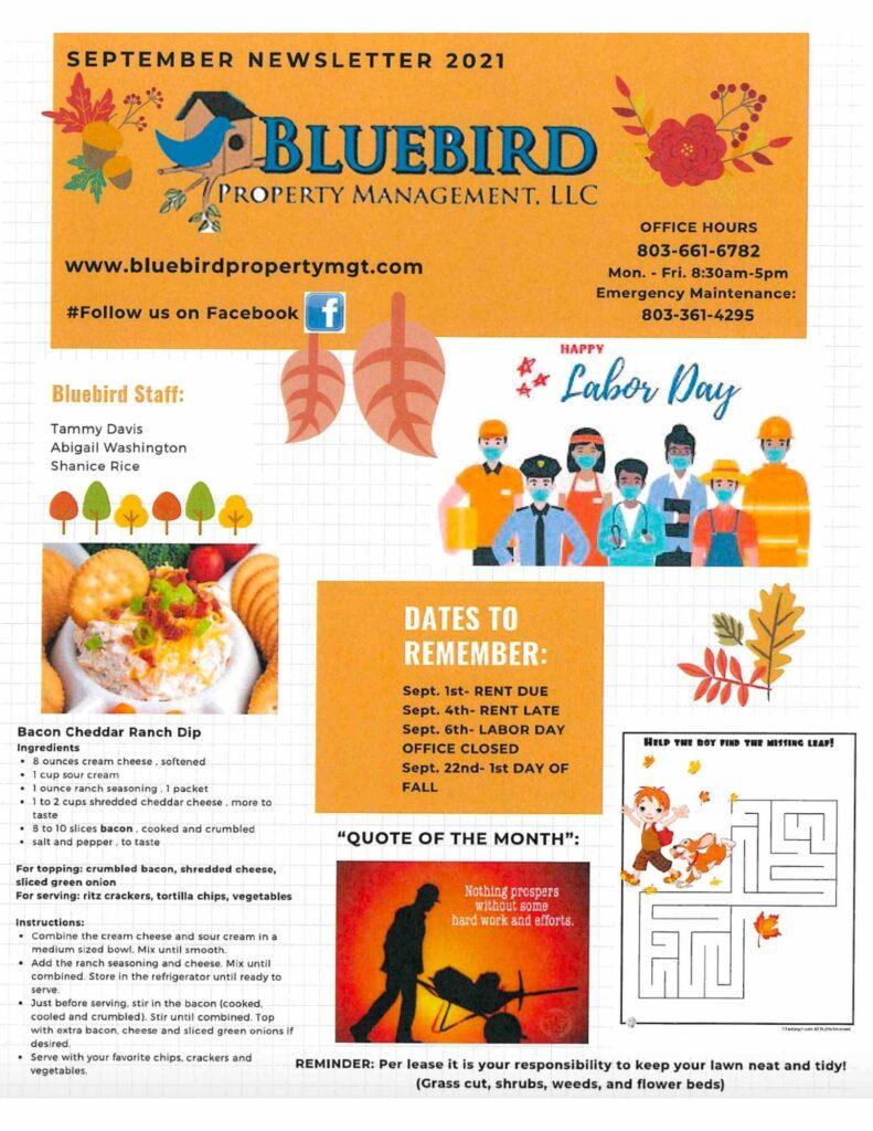 2021 September Newsletter-BluebirdProperty