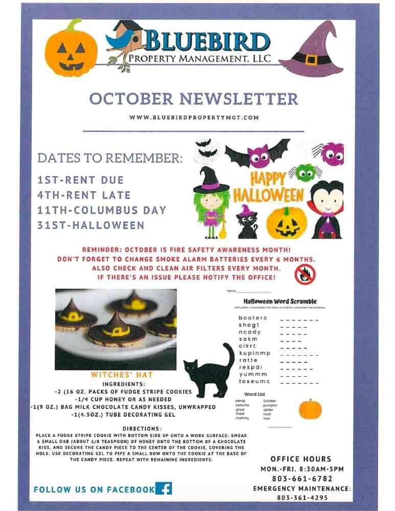 october 2021 newsletter - bluebird property